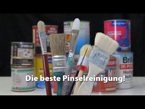 Malerpinsel und Künstlerpinsel reinigen, jetzt aber richtig!