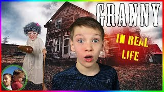 Granny Game In Real Life! Steel Kids Family Escape!
