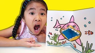 Làm Con Cá Mập Đói Bằng Giấy | DIY Shark Open Mouth Paper Crafts