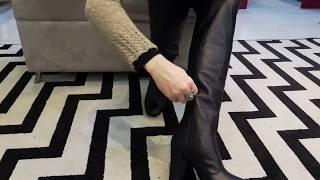 Vídeo Bota Over em Couro com Salto Ferrucci Cor Preta