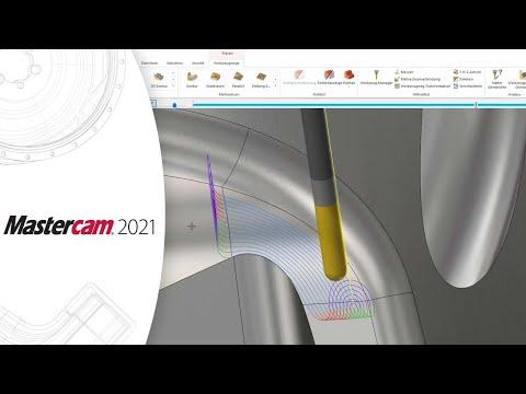 Neu in Mastercam 2021 – Neue Funktion im 3D-HSC-Werkzeugweg Blenden