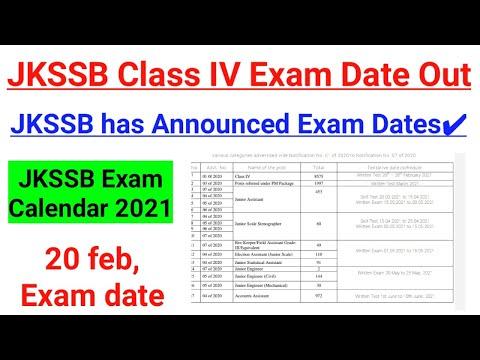 Class IV Exam Date Announced - Exam from feb 20 || JKSSB Exam ...