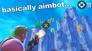 I UPGRADED my CROSSHAIR in Fortnite... (basically aimbot)
