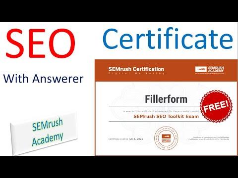 Free SEO Certificates | free computer certificate | SEO certification ...
