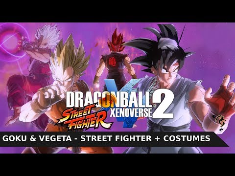 Dragon Ball Xenoverse 2 MOD:  Goku & Vegeta Street Fighter / Ken & Ryu + Evil Version
