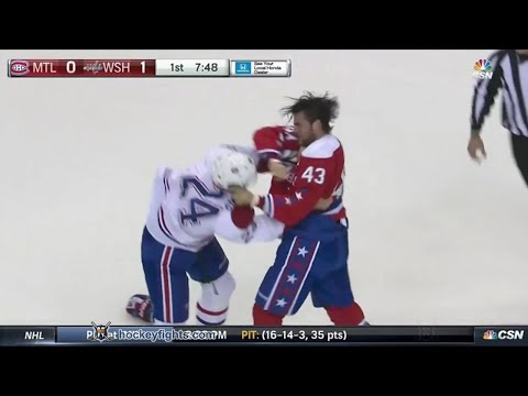 Jarred Tinordi vs Tom Wilson
