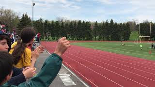 Riley's track and field 200m race—with a sprained ankle!