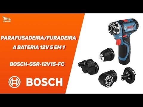 Parafusadeira/Furadeira a Bateria 12V 5 em 1 com Carregador 2 Baterias e Maleta  - Video
