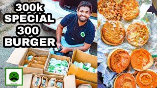 300k Special 300 Burgers with Veggiepaaji | Mc Donalds Vs Burger King Vs Burger Singh Vs Burger Club