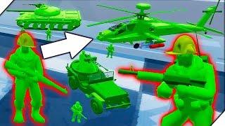 ТРЕНИРОВОЧНАЯ БАЗА СОЛДАТИКОВ - Attack on Toys Игра про игрушки  Война игрушек солдатиков