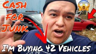 IM BUYING 42 JUNK CARS / SCRAP FOR CASH 🤑