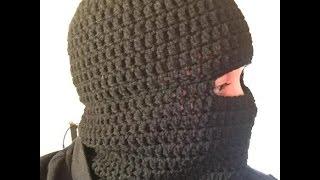 How to Crochet a Balaclava Ski Hat Ski Beanie Tutorial