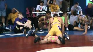 preview picture of video 'Nate Schwab (Ragin Raisins) vs. Justin Corradino (Lake Erie House Team) 133.mpg'