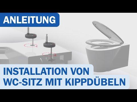 Anleitung: Installation von WC-Sitz mit Kippdübeln von Schütte