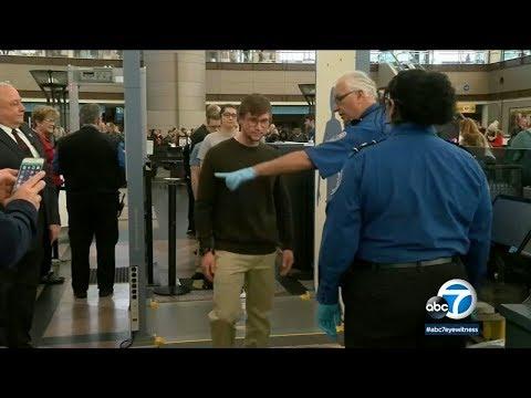 TSA agents at LAX work busy holiday weekend despite government shutdown I ABC7