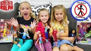No Boys Allowed!! Disney Princess Doll Scavenger Hunt From Wreck It Ralph Breaks The Internet Movie!