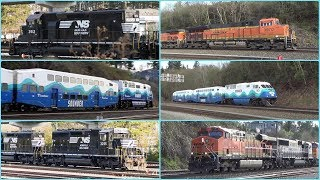 Trains & amazing Sounds - Norfolk Southern, BNSF, Sounder Commuter & MARTA Metro