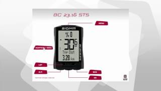 SIGMA SPORT // BC 23.16 STS // Functions (EN)