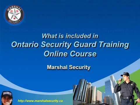 What is included in Ontario Security Guard Training Online Course ...