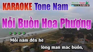 Nỗi Buồn Hoa Phượng Karaoke |Tone Nam - Nhạc Sống Thanh Ngân