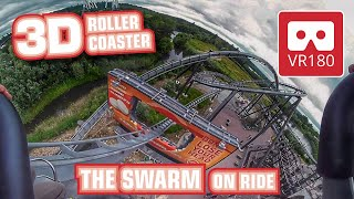 THE SWARM Roller Coaster VR180 3D scary Experience | VR on-ride POV @ Thorpe Park Oculus Rift Go