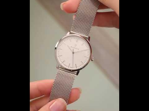 Renard Elite 35.5 ladies watch silver/white