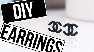 How To: Chanel Inspired Earrings | Chanel Look-a-like Earring Tutorial