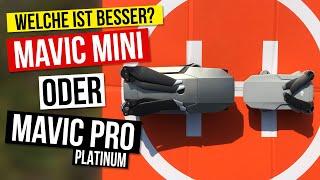 DJI Drohnen im Vergleich: Mavic Mini gegen Mavic Pro Platinum - welche Drohne ist die Bessere?