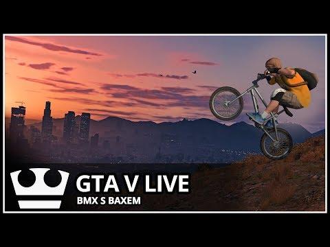 Jirka a GEJMR a Baxtrix hraje - GTA V Online - BMX s fanoušky [ LIVE ]