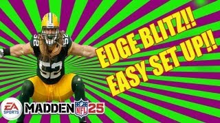 "Madden 25 "" FASTEST EDGE BLITZ "" 34 Solid STING PINCH | $125 Tournament | Madden NFL 25 Defense Tips"
