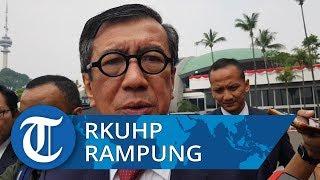Menkumham Yasonna Sebut RKUHP Warisan Besar untuk Indonesia