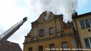 preview picture of video '2011-11-23 Zásah - Požár bytového domu - Vidnava'