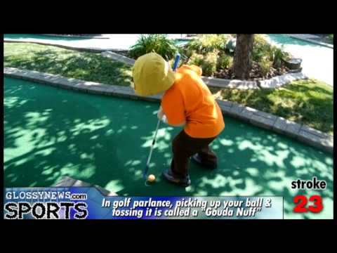 GN: Mini golfer putts in the dozens, sports channel there to cover it
