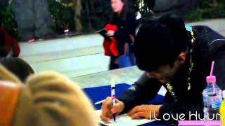 Fancam 2 121129 Evan Record Park Jung Min  SS501 2nd Beautiful Autograph By ILoveHyun501
