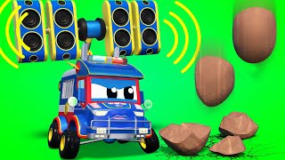 Truck cartoons for kids -  Super POLICE TRUCK chase! - Super Truck in Car City !