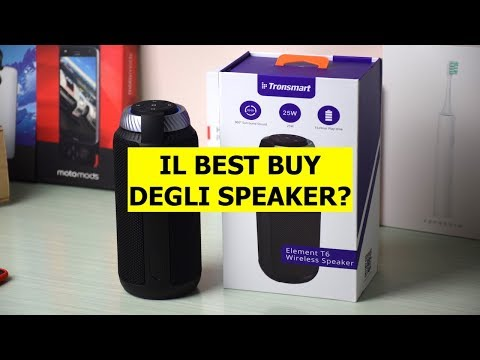 Speaker Tronsmart T6, video recensione