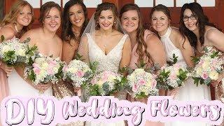 DIY COSTCO WEDDING FLOWERS 2019 | Bouquets, Boutonnieres, Centerpieces, & Arch Arrangements!
