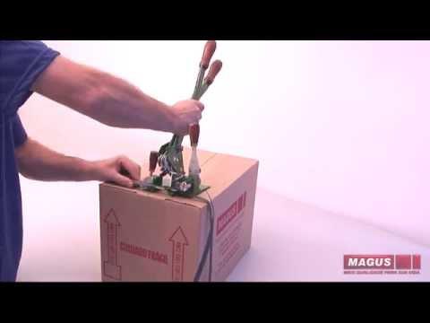 Utilização arqueador fita PP AQM01