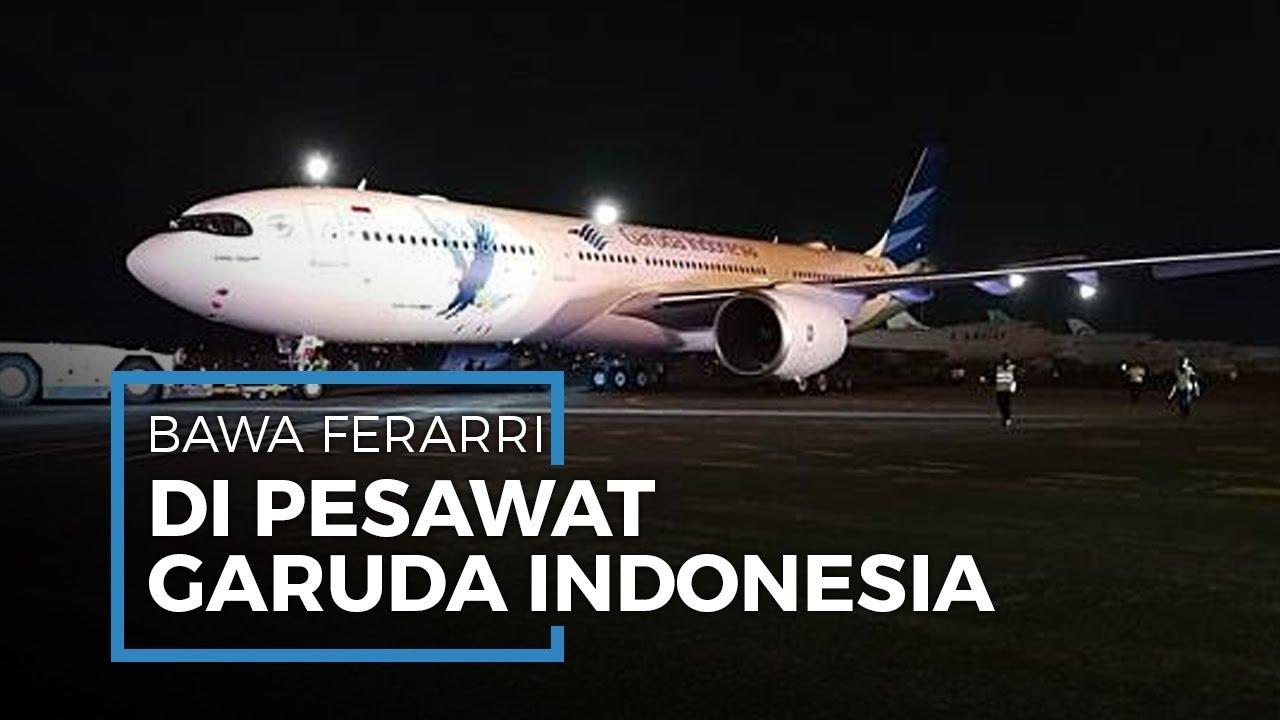 Setelah Video Viral Selundupan Harley Davidson, Kini Ferarri Juga Diangkut Pesawat Garuda Indonesia