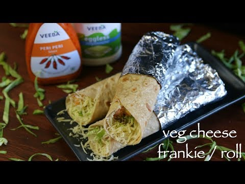 veg frankie roll recipe | veg cheese frankie | how to make veg cheese kathi roll