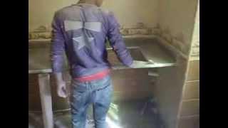 تركيب رخامة المطبخ