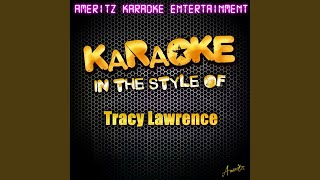 Today's Lonely Fool (In The Style Of Tracy Lawrence) (Karaoke Version)
