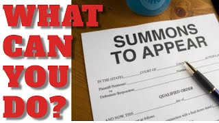 WATCH ME RESPOND TO A COURT SUMMONS || WHAT CAN YOU DO ABOUT THEM