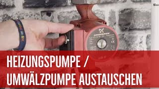 Pumpentausch: Heizungspumpe / Umwälzpumpe tauschen (Anleitung)