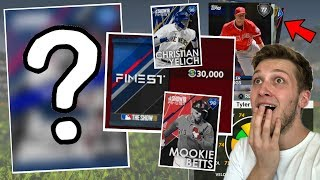 NEW FINEST CARDS DIAMOND PULL!? 100,000 STUB PACK OPENING! MLB THE SHOW 18