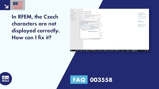 FAQ 003558 | In RFEM, the Czech characters are not displayed correctly. How can I fix it?