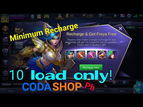 How to recharge and get freya for 10 load   Mobile Legends (For Android & iOS account)