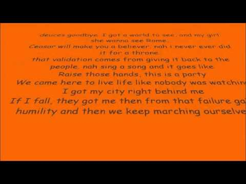 Macklemore Cant Hold Us Lyrics