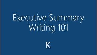 How to Write an Executive Summary - Detailed Tutorial