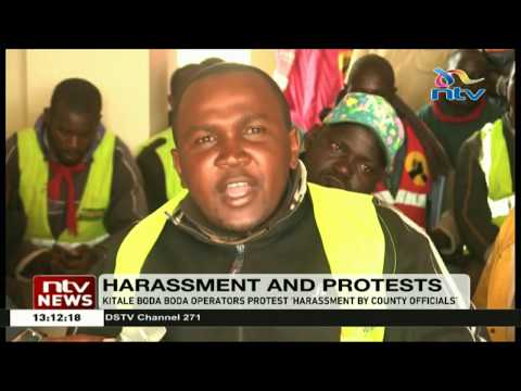 Kitale boda-boda operators protest harassment by county officials